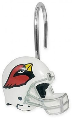 arizona cardinals nfl bath shower curtain rings bathroom set of 12 licensed new