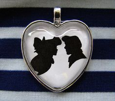 Ariel and Eric Kiss the Girl Heart Silhouette by TheShadowStudio