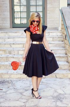 Retro Valentine's Day Outfit. We love this!