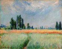 Клод Моне - The Wheat Field, 1881. Клод Оскар Моне