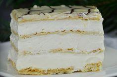 Mille-feuille (prajitura Napoleon) - CAIETUL CU RETETE Cupcake Cakes, Cupcakes, Napoleon, Vanilla Cake, Caramel, Ice Cream, Desserts, Food, Pies