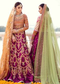 Buy Indian Bridal Lehenga In Traditional Colours – Nameera by Farooq