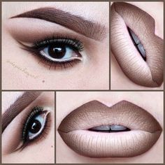 """☠ X†iNA ? PronouncedAsDepesh on Instagram: """"In a Nude Mood .. Lips -... ❤ liked on Polyvore"""