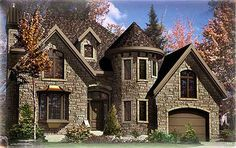 European Stone Castle - 90125PD | European, Traditional, Canadian, Metric, Narrow Lot, 2nd Floor Master Suite, Bonus Room, CAD Available, Den-Office-Library-Study, PDF | Architectural Designs