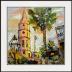 St. Michael's Church Charleston SC Oil Painting by Ginette Callaway