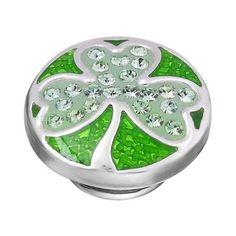 KJP301 - Emerald Shamrock Sparkle JewelPop   Kameleon Jewelry