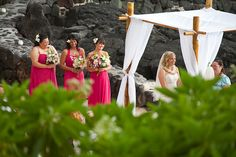 Royal Kona Resort on a private bit of sand.  Made for a beautiful location for their Hawaiian Wedding.  www.eyeexpression.com