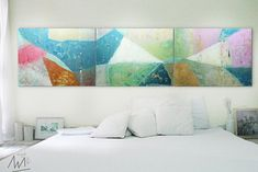 Wall Art PAINTING Acrylic Abstract Decor Modern abstract Art 32 x You get 3 paintings when you buy this Modern Art Movements, Contemporary Abstract Art, Buy Art Online, Mixed Media Art, Mix Media, Art Auction, American Art, Modern Decor, Painting