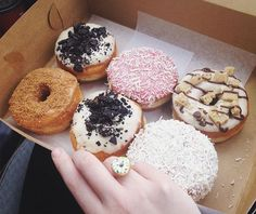 Donut mistake this as just a box of donuts! Donut Ring, Doughnut, Homer Donuts, Emoji Food, Cravings, Clay, Jewellery, Box, Desserts