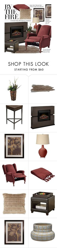 """""""By the Fire: Winter Fireplace"""" by beebeely-look ❤ liked on Polyvore featuring interior, interiors, interior design, home, home decor, interior decorating, Linwood, homedecor, fireplace and lampsplus"""