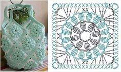 Luty Artes Crochet: Quadrados de crochê com gráficos