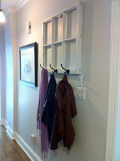 Urban Squirrel: Window Frame Coat Rack DIY