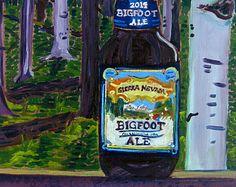 Beer Oil Painting of Big Foot Ale by Sierra Nevada Brewing Co. - Year of Beer 02/21