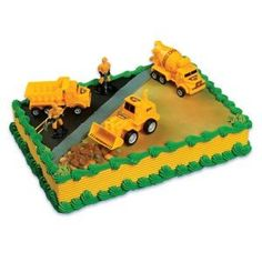 Construction Scene Cake Topper Kit by Bakery Crafts. $8.31. Actual color of product may vary slightly from the photo.. Kit includes: dump truck, bulldozer, cement truck, and 2 men. Construction Scene Cake Topper Kit