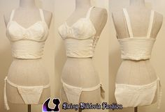 15th century medieval bra and panties, modeled after a recent find at Lengberg Castle in Austria.