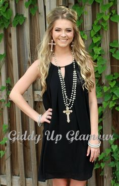 Something's Begun Solid Shift Dress in Black | $32.95 | www.gugonline.com Trendy Outfits, Fashion Outfits, Giddy Up Glamour, Cute Boutiques, Beautiful Hands, New Product, Tutu, My Style, Pretty