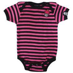 Cupcake Stripe Baby Grow One Piece