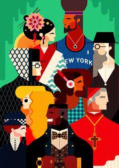 People - Jonny Wan Illustration