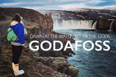 Dawn at the Waterfall of the Gods : Godafoss
