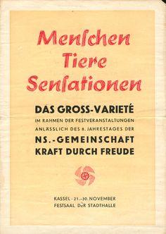"""""""Kraft durch Freude""""-Veranstaltung des Gaus Kurhessen, Jahr unbekannt (8. Jahrestag der KdF-Gründung war der 27. November 1941)."""