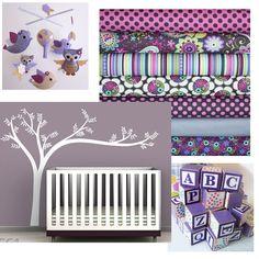 {purple nurseries} etsy inspiration | bella bambini design