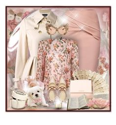 """""""Pastel, floral...."""" by gianna-pellegrini ❤ liked on Polyvore featuring Boutique Moschino, Blue Nile, WtR, Topshop, Givenchy, Nine West, Dolce&Gabbana and vintage"""