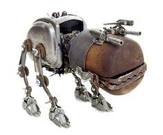 Leuk om te zien hoe de ogen van deze robothond zijn gemaakt.