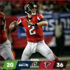 advance behind 338 yards & 3 TDs from 📷: John Bazemore/AP Nfl Playoffs, Atlanta Falcons, Grab Bags, Football Helmets, Yards, Instagram Posts, Sports, Logo, Pictures