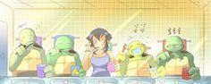 Good morning, Hamato Family by owiyalight on deviantART Teenage Ninja Turtles, Ninja Turtles Art, Ninja Turtle Toys, Tmnt 2012, Tmnt Comics, Cute Comics, Pokemon Fusion, Sailor Mars, Sailor Venus