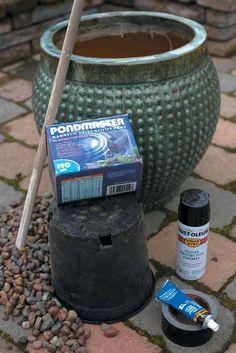 Making A Pot Fountain | Make a fountain | OregonLive.com | Oregonlive.com