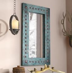 8 Ridiculous Tips Can Change Your Life: Wall Mirror With Lights Lamps wall mirror diy fireplaces.Wall Mirror Collage Artworks round wall mirror entry ways. Farmhouse Wall Mirrors, Wall Mirrors Entryway, Rustic Wall Mirrors, Living Room Mirrors, Round Wall Mirror, Entryway Console, Wood Mirror, Mirror Set, Blue Mirrors