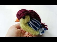 How To Create A Cute Yarn Bird - DIY Crafts Tutorial - Guidecentral - YouTube