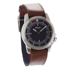 Miansai M3 Navy In Cappuccino With Rotating Bezel