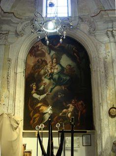 Palermo Santa Rosalia con la Madonna  di Antonio Manno nella Chiesa di Santa Maria La Nova