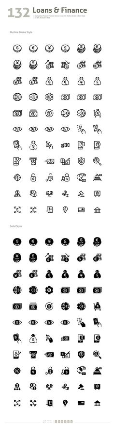 Loans & Finance Premium Vector Icons - Icons - 2