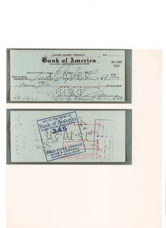 Assegno completamente scritto a nmano da Marilyn Monroe nel 1957 intestato a Saxs Fifth Avenue.