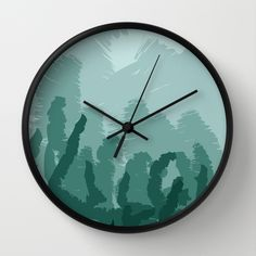 Abstract forest  Wall Clock by Chiara - $30.00