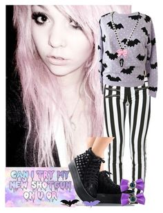 """""""Pastel Goth"""" by jaywashington ❤ liked on Polyvore featuring Kreepsville 666, women's clothing, women, female, woman, misses and juniors"""
