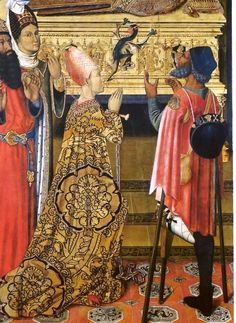 1493-1500 Workshop of Rafael Vergós, Princess Eudoxia before the Tomb of Saint Stephen, Barcelona
