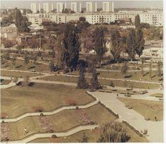 Parcul Circului, vedere spre cartierul Floreasca / bd. lacul Tei inca nesistematizat / blocurile din planul secund sunt pe str. Barbu Vacarescu
