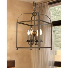 Angelo Bronze Lantern Chandelier | Overstock™ Shopping - Great Deals on Chandeliers & Pendants for the entryway
