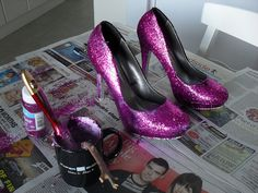 Glitter shoes...