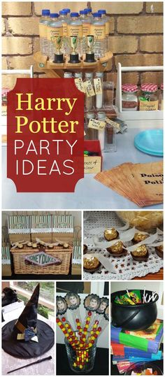 This fun Harry Potter party lets guests mix their own potions! See more party planning ideas at CatchMyParty.com!