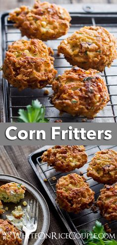 Our Corn Fritters recipe is very quick and easy to make at home. Your whole family will loves these too! Corn Fritter Recipes, Corn Recipes, Recipes Dinner, Keto Recipes, Recipies, Healthy Vegetable Recipes, Quick Healthy Meals, Easy Meals, Corn Patties