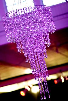 LL Violet chandelier Purple Love, Purple Lilac, All Things Purple, Shades Of Purple, Purple Stuff, Purple Chandelier, Glass Chandelier, Purple Rooms, Purple Reign