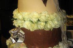 Chocolate Mousse Wedding Cake Photo : Jackie Cameron White Chocolate Mousse, Belgian Chocolate, Chocolate Ganache, Wedding Cake Photos, Wedding Cakes, Chocolate Sponge, Cake Flour, Cake Tins, Salted Butter