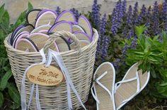 Flip Flops für Gäste Sandalen Hochzeit von Majalino auf DaWanda.com