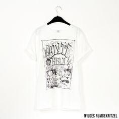 Wildesrumgekritzel // http://antiheld-couture.com/shop/unisex-shirts/48-wildes-rumgekritzel-shirt-weiß.html