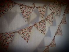 No sew bunting. Liberty print autumnal fabric for thanksgiving.