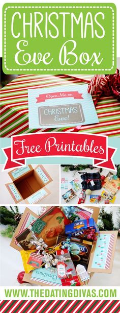 Super CUTE Christmas Eve Box! FREE download! My family would LOVE this!! www.TheDatingDivas.com